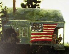 Vintage Art James Wyeth Sesquicentennial Islanders American Flag Patriotism US