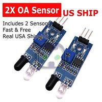 2pcs IR Infrared Obstacle Avoidance Sensor Module for Arduino Smart Car  N59