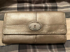 Fossil Gold Wallet Fold Credit Cards Coin Pocket