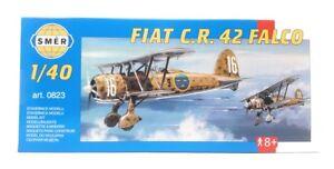 SMER Plastic Model Kit 1/40 Military Airplane FIAT CR 42 Falco