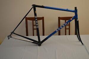 Vintage steel road bike Basso frame & fork frameset Columbus sl 52 cm