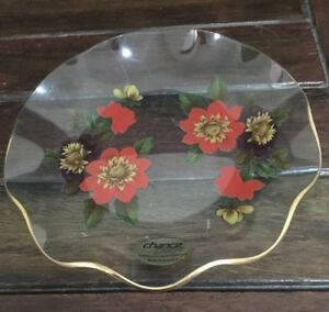 Vintage Pilkington's Chance Glass England Plate Floral Pattern Excellent Conditn
