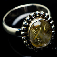Rutilated Quartz 925 Sterling Silver Ring Size 9 Ana Co Jewelry R23716F