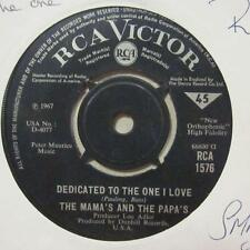 "The Mamas & The Papas(7"" Vinyl)Dedicated To The One I Love / Free Advic-Ex/VG"