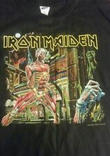 Vintage Iron Maiden 2008 Somewhere Back In Time World Tour Black T-Shirt Band XL