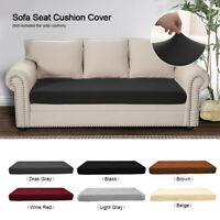 1-3 Seats Stretchy Sofa Seat Pad Mat Cushion Cover Couch Slipcovers Protector US