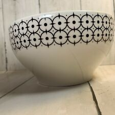 Pottery Barn Black And White Soup Cereal Bowl  5 5/8 Made in Brazil Geometric