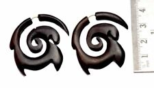 A Pair of Coconut Earrings Coco Wood Wooden Boho Hippie Earrings Sew_876
