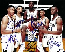 Fab Five Signed 8x10 Autographed REPRINT PHOTO Michigan Wolverines RP