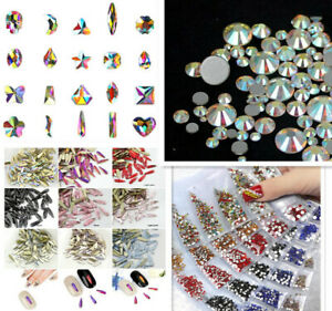 Mix Nail Art 3D DIY Rhinestones Jewelry Gems Nail Art drop Decoration Glitter