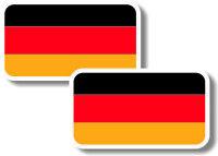 Vinyl sticker/decal Small 70mm German  flags - pair (no crest)