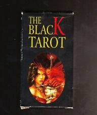 BRAND NEW THE BLACK TAROT (78) CARD SET NAIPES FOURNIER + INSTRUCTIONS