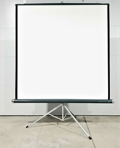 "Vintage Da Lite Versatol Projection Screen 60""x 60"" Tripod Stand - VERY CLEAN"