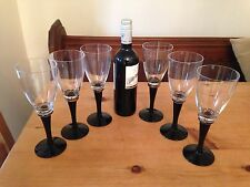 John Lewis Wine Glasses With Gold & Dark Blue Colour Glass Stem