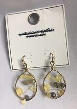 American Eagle Outfitters Goldtone Beaded Hoop Earrings.-NWT.