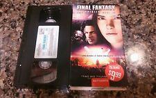 FINAL FANTASY : THE SPIRITS WITHIN RARE VHS TAPE! COLUMBIA 2001 ALIEN FANTASY!