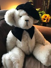 "Real SHEARLING FUR Teddy Bear HANDMADE Artist Cheri, FULLY JOINTED 22"" Large"