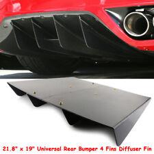 "21""x19"" Rear Bumper 4 Fins Diffuser Fin ABS Universal For Honda Acura TSX Black"
