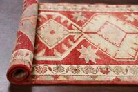 South-western Tribal Anatolian Oushak Turkish 13 ft Runner Rug Hand-Knotted 3x13