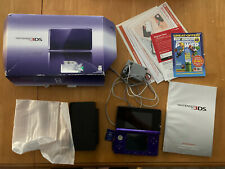 working Nintendo 3DS 2gb Sd Card Midnight Purple Handheld System COMPLETE IN BOX