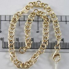Bracelet Yellow Gold Or White 750 18K Rolo ' ,Circles 4 MM,19 CM ,Made IN Italy