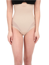 Miraclesuit Shapewear Sheer Nude Extra Firm Shaping High Waist Thong Sz S 1908