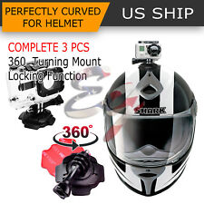 360 Helmet Adjust Mount Adapter Holder Sticker Knob for GoPro Hero 6 5 4 3+ 2 1