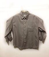 ARMANI COLLEZIONI Dress Shirt 39 15.5 Made In Italy Striped