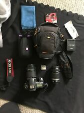 Canon EOS 60D 18.0MP Digital SLR Camera with 15-135mm and 55-250mm lenses + case