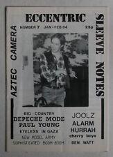 Rare UK 1984 Fanzine Aztec Camera Big Country Depeche Mode