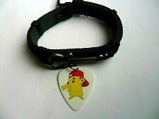 Ladies / Girls Guitar Charm Leather Adjustable Bracelet & PIKACHU  Pick