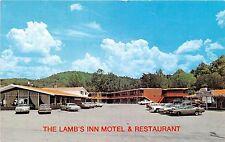 Tennessee postcard Lake City The Lamb's Inn Motel  Restaurant Antique car museum