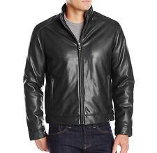 Cole Haan Signature Men's Zip Front Faux Leather Moto Jacket Retail $ 109.00