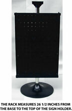 2 Sided Black Counter Top Peg Board Spinner Rack Display Includes Hook