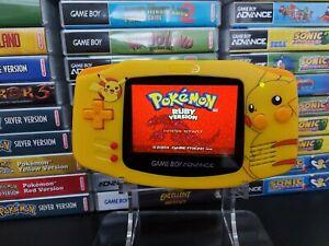 Gameboy Advance Pikachu IPS V2 Backlit UV Shell (AGS-101)