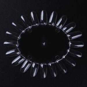Clear False Nail Art Display Practice Wheel Board Nails Design Tool Nails Kits