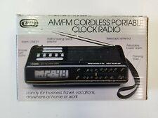 Tozai AM/FM Cordless Portable Clock Radio