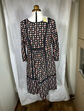 BODEN Floral Ladies Dress Size 10R - 3/4 Sleeves - Waist Pockets New Tags