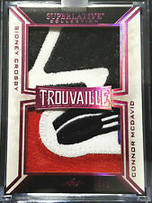 2019-20 Leaf Superlative Trouvaille Sidney Crosby Connor McDavid Dual Patch 3/5