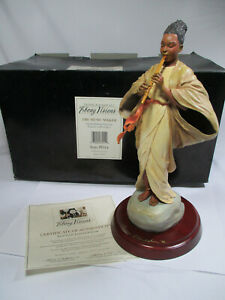 Thomas Blackshear's Ebony Visions THE MUSIC MAKER Figurine Item 37014 SIGNED