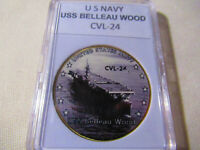 US NAVY - USS BELLEAU WOOD / CVL-24 Challenge Coin