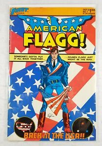 First Comics American Flagg! #1 - 1st Appearance Of Reuben Flagg - Free Shipping