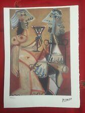 Picasso Litografia 38.5 x 28.5 cm Firma Timbro Spadem 1995 edizione 250 PIC169