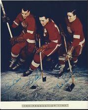 Gordie Howe Ted Lindsay and Sid Abel Autographed 8 x 10