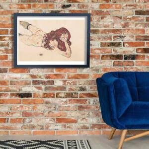 Egon Schiele - Woman Lying Down Wall Art Poster Print