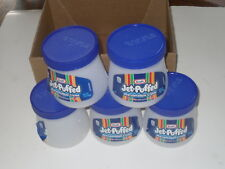 Empty Containers Marsh Mellow Jars Semi-Clear Cleaned 5 Lot See My Other Items