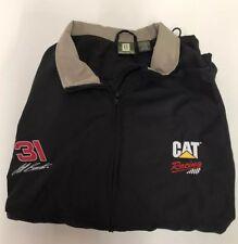 CAT Racing # 31 Jeff Burton Crew Jacket XL zip Up