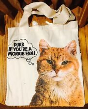 Vintage Morris the Cat 9 LIves Canvas Tote Bag Tabby Kitten Animal Lover
