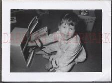 Vintage 1959 Photo Cute Girl w/ Little Reafer Refrigerator Toy 658030