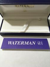 WATERMAN PEN BOX-USED CONDITION-EMPTY BOX & BOOKLET ONLY.